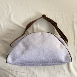 Vintage Gucci Canvas Monogram shoulder bag